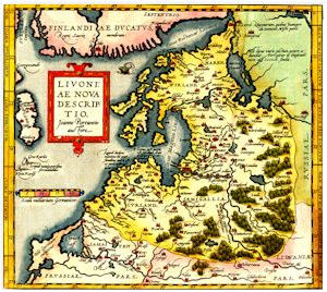 Map of Livonia 1573