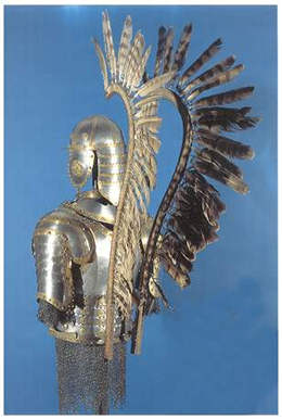 Younger Hussar armour from the 2nd half of the 17th Century - showing detail of wings